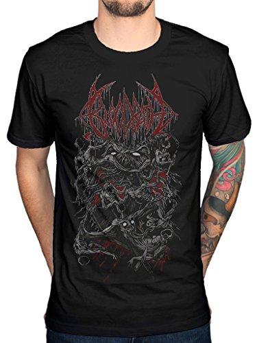 Bloodbath Old School-Maglietta riproduzione ufficiale Nightmares in polpa di morte nero XL