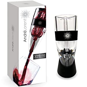 VinLuxe PRO Wine Aerator - #1 Rated By the Wine World. Patented Swirl Aeration Process... by Andre Lorent