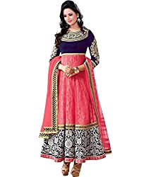 Typify Women's Georgette Unstitched Dress Material (TYPIFY285_Pink_Free Size)