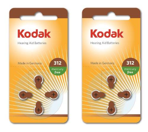 8 Confezione da Kodak apparecchio acustico batteria formato 312 (PR41, k312za) 1,45 V EXP 03/2017