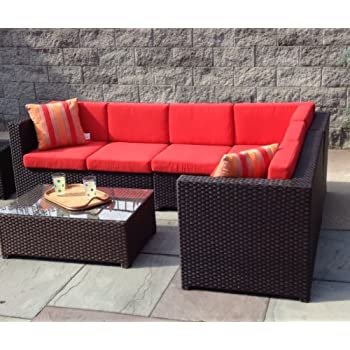 Cheap outdoor sectional patio wicker sectional sofa for Outdoor sectional sofa for sale