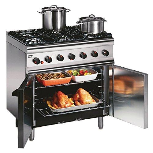 Lincat Silverlink 600 6 Burner LPG Gas Oven with Rear Castors