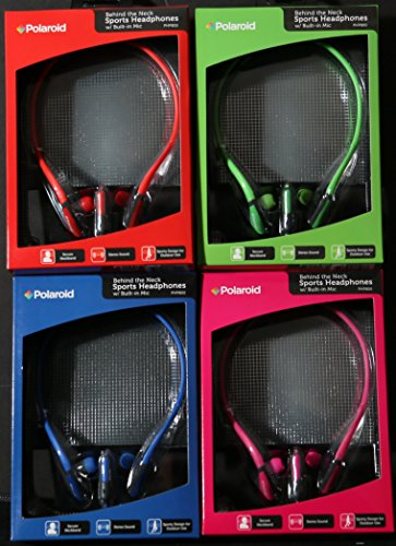 Polaroid Php800Pk 2014 Sport Headphones With Mic For Android, Kindle, Galaxy, Iphone And Ipad - Pink