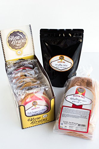 New Grains Gluten Free Small Sampler Pack (Great Care Package with Multigrain Bread at 32 oz, 9 Large 4