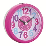 Kids Tell The Time Alarm Clock Finish: Pink