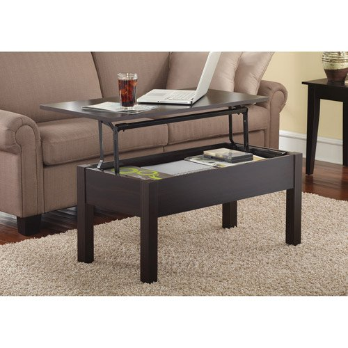 Lift-Top Coffee Table, Espresso (Espresso Lift Top Table compare prices)