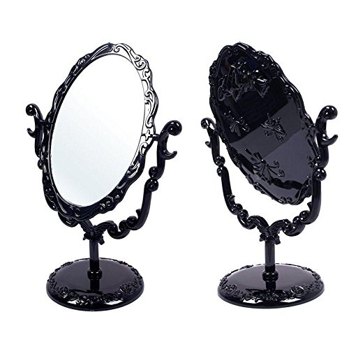 black-butterfly-desktop-mirror-rotatable-gothic-small-size-rose-makeup-stand