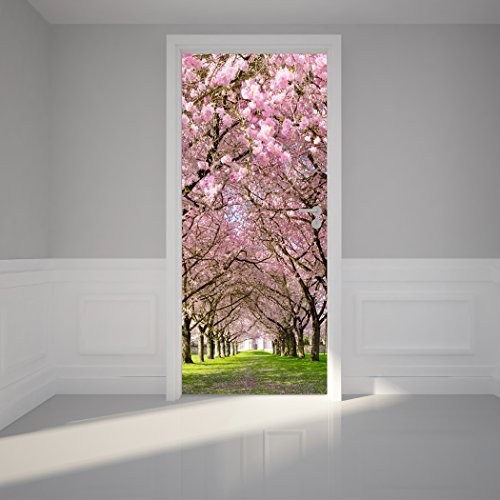 Peel and stick door murals funk this house for Door mural stickers
