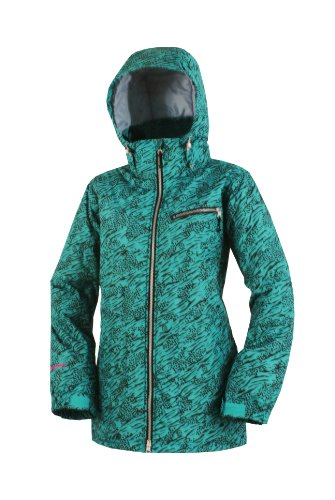 Betty Rides Women's Wildcat Girl's Choice Jacket, Teal Wildcat, X-Large