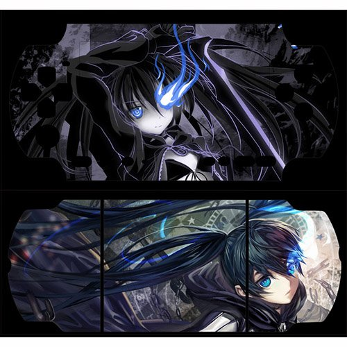 BestFyou® Black Rock Shooter Design Decorative Protector Skin Decal Sticker for PSP 3000
