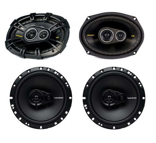 "2) Kicker 40Cs6934 6X9"" 450W +2) Rockford Fosgate R165X3 6.5"" 90W 3-Way Speakers"