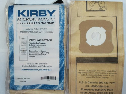 Kirby - Generation 4 and 5 Vacuum Bags - 9 pack.