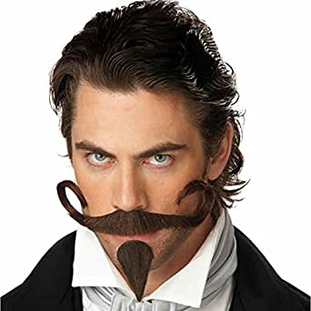 California Costumes Men's The Gambler Moustache & Chin Patch,Brown,One Size Costume Accessory