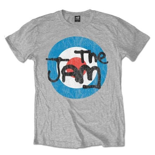 Official Grey T Shirt THE JAM Spray Bullseye
