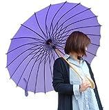 雨の日だってオシャレに♪新色!単色!24本骨和傘【かさ・カサ・パラソル・傘・レインコート】