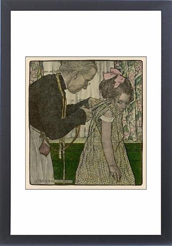 Framed Print Of Girl With New Dress 1905