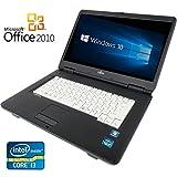 【Microsoft Office2010搭載】【Windows 10搭載】富士通A550/A/新世代Core i3 2.26GHz/メモリ4GB/HDD160GB/DVDドライブ/大画面15インチ/無線LAN搭載/中古ノートパソコン