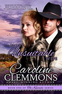 The Most Unsuitable Wife by Caroline Clemmons ebook deal
