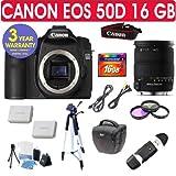 Canon EOS 50D + Sigma 18-200mm OS Lens + 16 GB Memory