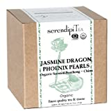 SerendipiTea Jasmine Dragon Phoenix Pearls, Organic Scented Pouchong Tea &#038; Tisane, China, 4-Ounce Boxes (Pack of 2)
