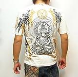 (インフィニティー)胤富仁帝 薬師如来と藤 和柄Tシャツ 半袖 Tシャツ