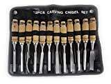 Revesun Wood Carving Tools Set 12 plece with a Storage Pouch