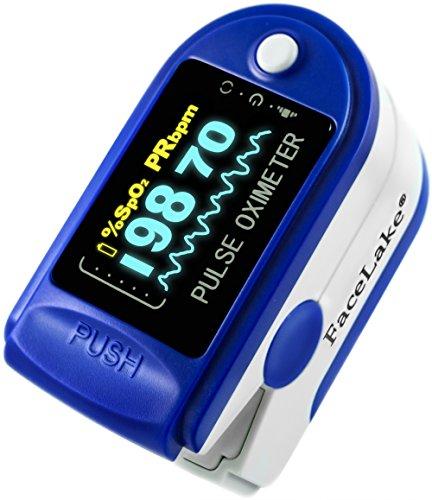 Finger Pulse Oximeter by Facelake, Model FL-350 with