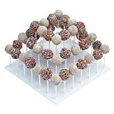Attractive Square White 3-tier Stand Holds Up To 52 Cake Pops Or Lollipops. It's Ideal For Parties And Festive...
