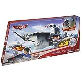 Mattel Y3155 - Disney Planes Yorkie Flugzeugträger Spielset, inklusive 1 Flugzeug