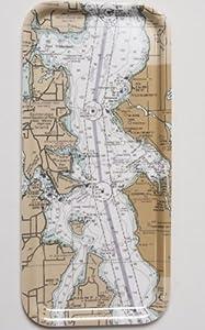 "Seattle Nautical Cheese & Cracker Tray 6""x13"""