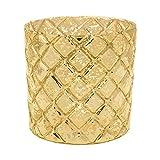 Luna Bazaar Home Decorative Accents Gold Mercury Glass Candle Holder Bubble Cup Design
