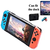 Protective Clear Case for Nintendo Switch, Switch Dock Friendly Cover Case