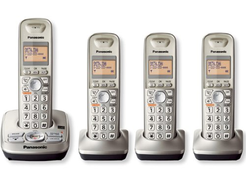 Panasonic Kxtg4224N Dect 6.0 4-Handset High Quality Phone System With Answering Capability