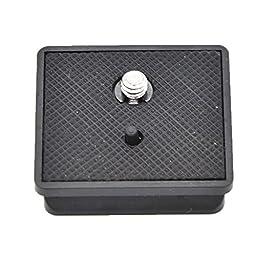 niceEshop(TM) Quick Release QR Plate For Weifeng Tripod 330A E147 (Black)