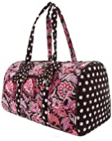 "Belvah Large Quilted Floral 21"" Duffle Bag - Choice of Colors"
