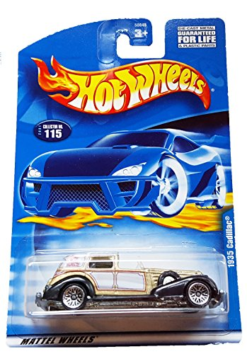 Mattel Hot Wheels 2001 1:64 Scale Gold 1935 Cadillac Die Cast Car #115 (Cadillac Hot Wheels compare prices)