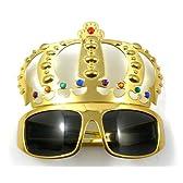 王様の 金の王冠付き サングラス パーティーなどに