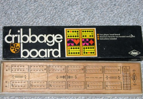 1968 Wood Cribbage Board 2 player- By E. S. Lowe - 1
