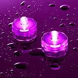 Lot de 10 Bougies Etanches et Submersibles aux LED Roses par Lights4fun