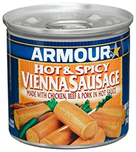 Armour Hot Spicy Vienna Sausage 5-ounce Cans Pack Of 24 by Armour