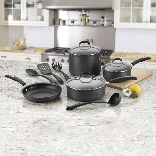 Cuisinart 11-pc. Hard-Anodized Nonstick Cookware Set