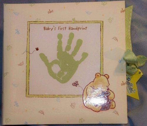 Classic Pooh Disney Keepsake Baby's First Handprint Plaster Kit. Plaster with Mint Green Display Box
