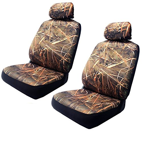 Muddy Water Forest Swamp - Wild Camouflage Seat Cover Set - 2 Front Camo Seats With Headrest Go Duck Hunting (Camouflage Truck Seat Covers compare prices)
