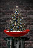 """More Designs! Indoor Snowing Christmas Tree Tabletop Lamp 30"""", Festive Decoration with Snowfall & Musical LED Lights by OYE HOYE"""
