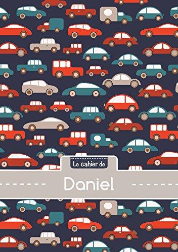 Le cahier de Daniel - Petits carreaux, 96p, A5 - Voitures (Enfant)