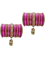 Rani Bridal Chura Wedding Bangles Chuda By My Design(size-2.6)
