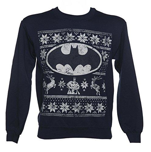Unisex Batman Fair Isle Christmas Sweater
