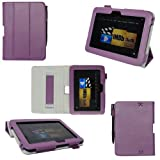 ProCase old generation Kindle Fire HD 7 Case - Tri-Fold Folio Stand Cover for Amazon Kindle Fire HD 7 Inch Tablet (2012 version) auto sleep /wake feature, hand strap (Purple) ~ ProCase