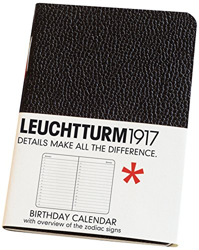Leuchtturm Birthday Calender Mini Soft Cover Black