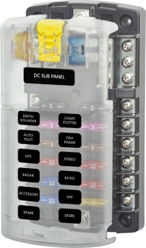 Blue Sea - Systems 5026 St Blade Fuse Block With Cover